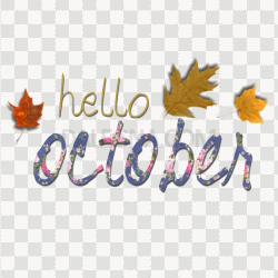 Hello October PNG Clipart
