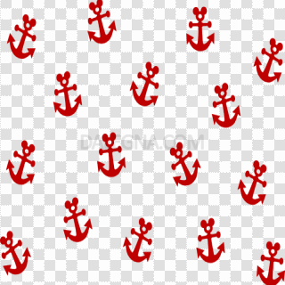 Red Anchor PNG Image