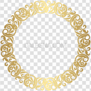 Round Christmas Frame PNG Transparent Picture