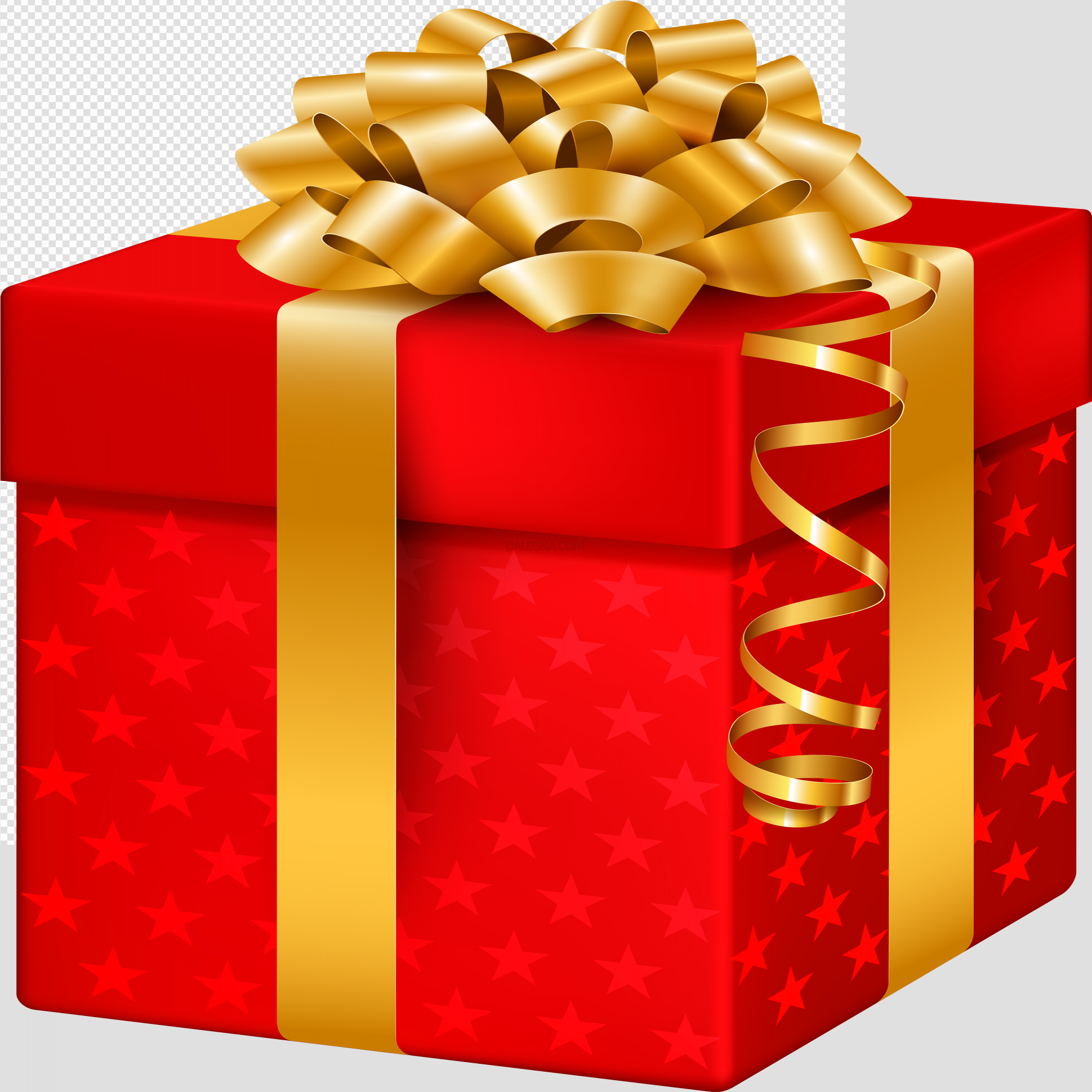 Red Christmas Gift PNG Pic