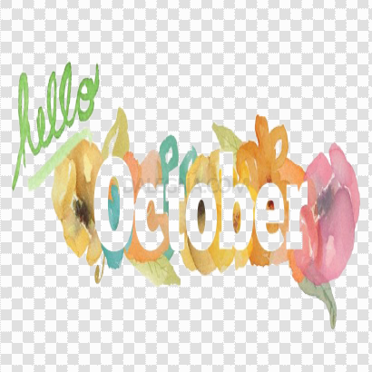Hello October PNG File