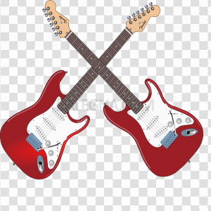 Red Electric Guitar Vector PNG Clipart