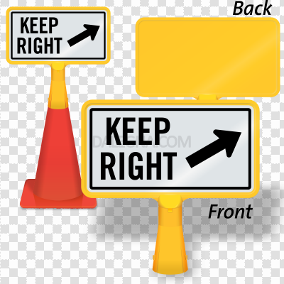 Keep Right PNG Clipart