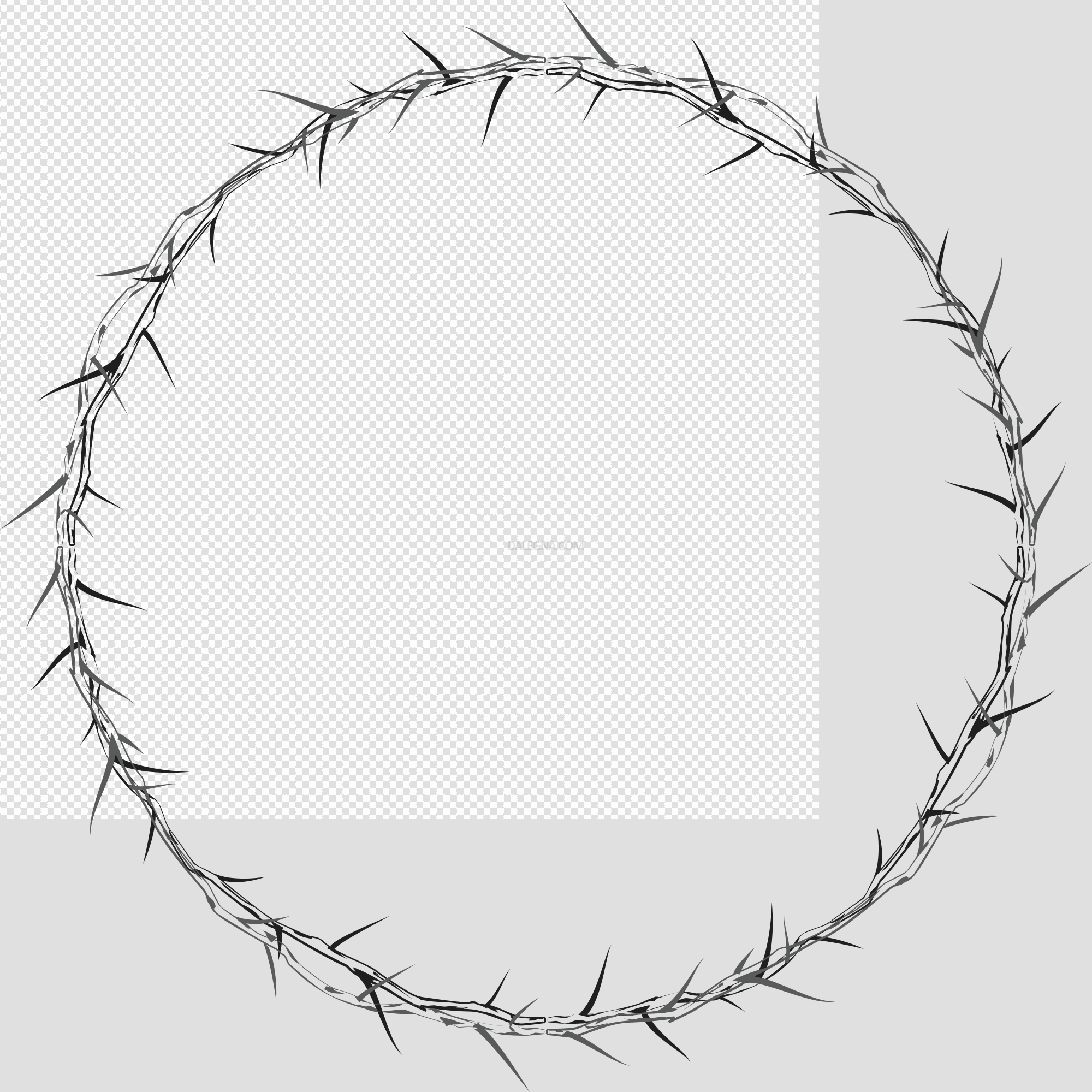 Round Frame PNG Photos