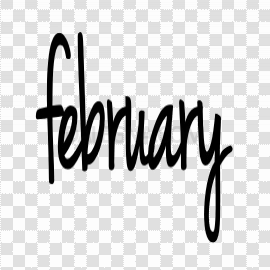 February PNG File