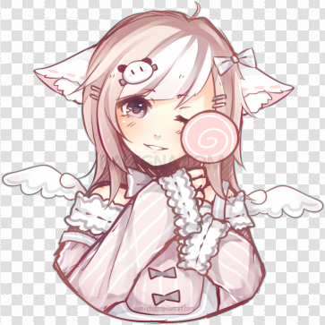 Pastel Anime Girl PNG Picture