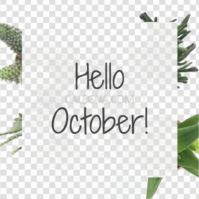 Hello October PNG Transparent Image