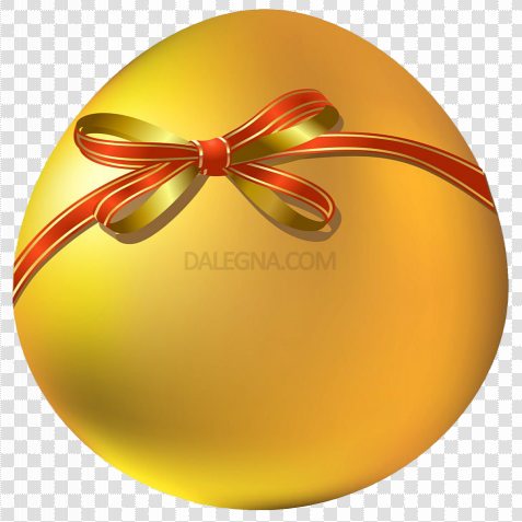 Yellow Easter Egg PNG Picture