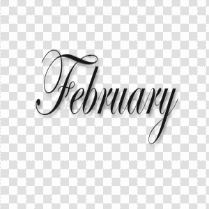 February PNG Transparent Image
