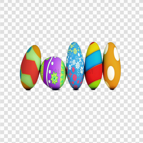 Colorful Easter Egg PNG Photo
