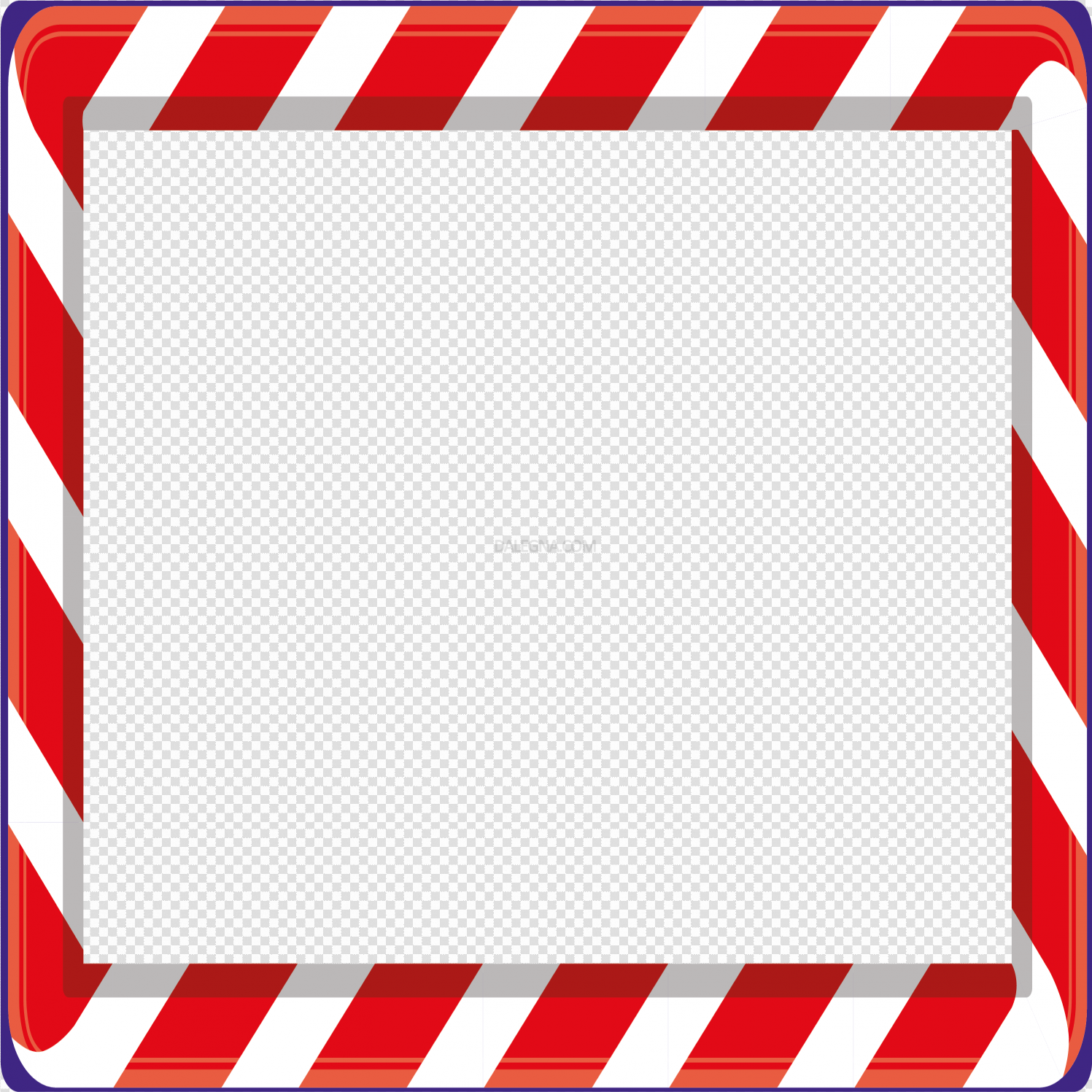 Red Christmas Frame PNG File