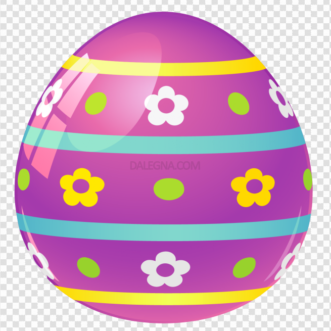 Colorful Easter Egg PNG Photos